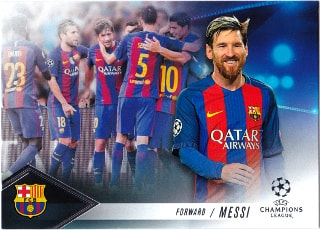 Topps 開封結果 16/17 UEFA Champions League Showcase