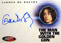 007 in Motion Carmen Du Sautoy 直筆サイン