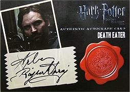 ハリー・ポッターと死の秘宝 part 2 デス・イーター直筆サインカード1