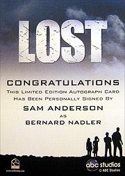LOST Season 1 Thru 5 直筆サイン バーナード・ナドラー(サム・アンダーソン)2