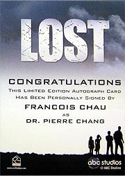 LOST Season 1 Thru 5 直筆サイン フランソワ・チョウ(Drチャン)2