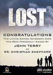 LOST Season 1 Thru 5 直筆サイン C.シェパード(ジョン・テリー)2
