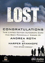 LOST Season 1 Thru 5 直筆サイン ハーパー・スタンホープ(アンドレア・ロス)2