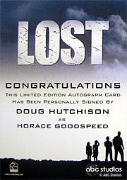 LOST Season 1 Thru 5 直筆サイン ホレス・グッドスピード(ダグ・ハッチソン) 2