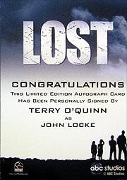 LOST Season 1 Thru 5 直筆サイン ロック(テリー・オクイン)2