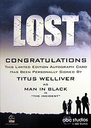 LOST Season 1 Thru 5 直筆サイン タイタス・ウェリバー(黒い服の男)2