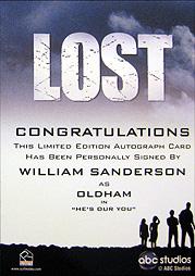 LOST Season 1 Thru 5 直筆サイン オールダム(ウィリアム・サンダーソン) 2