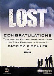 LOST Season 1 Thru 5 直筆サイン フィル(パトリック・フィッシュラー)2