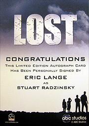 LOST Season 1 Thru 5 直筆サイン ラジンスキー(エリック・ラング)2