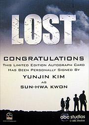 LOST Season 1 Thru 5 直筆サイン サン(キム・ユジン)2