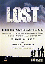LOST Season 1 Thru 5 直筆サイン イ・スンヒ(トリシャ・タナカ)2