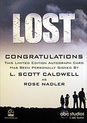 LOST Season 1 Thru 5 ケース特典直筆サイン ローズ・ナドラー(L.スコット・コールドウェル)2