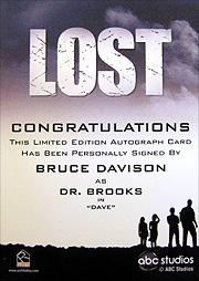 LOST Archives 直筆サイン Dr.ブルックス(ブルース・デイヴィソン)2