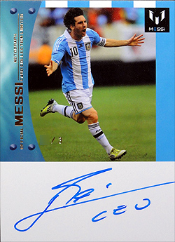 ICONS Messi official card limited #AR50 表