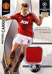 Panini チャンピオンズリーグ カードセット 2010-2011 キャリック ジャージ2
