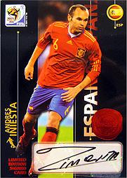 Panini 2010 FIFA World Cup カード #イニエスタ 直筆サインカード