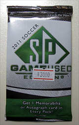 SP GAME USED Soccer 2011