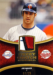 UD 2008 SweetSpot MLB ジョー・マウアー パッチジャージ
