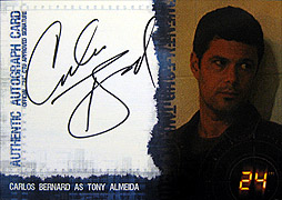 Artbox Twenty Four Season 4 #カルロス・バーナード(トニー・アルメイダ) 直筆サインカード1