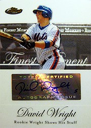 topps Finest 2007 David Wright auto