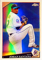 topps Chrome MLB 09 サンタナ