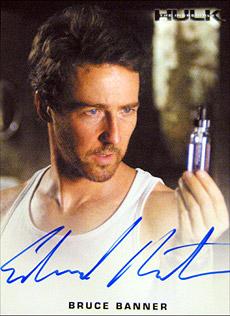 映画 限定375セット!エドワード・ノートン直筆サイン入りハルクのトレカは非常にいい出来です
