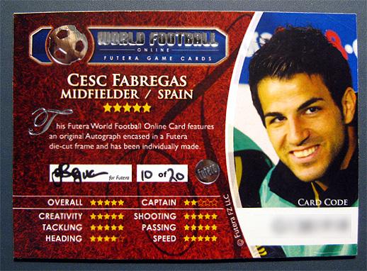 Futera World Football 2010のセスク直筆サインカードを提供します
