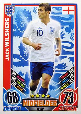 Topps Match Attax England 2012のウィルシャーを入手しました
