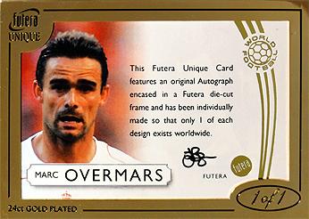 マルク・オーフェルマルスのfutera 1of1直筆サインカードを入手。なんと今年2枚目です。