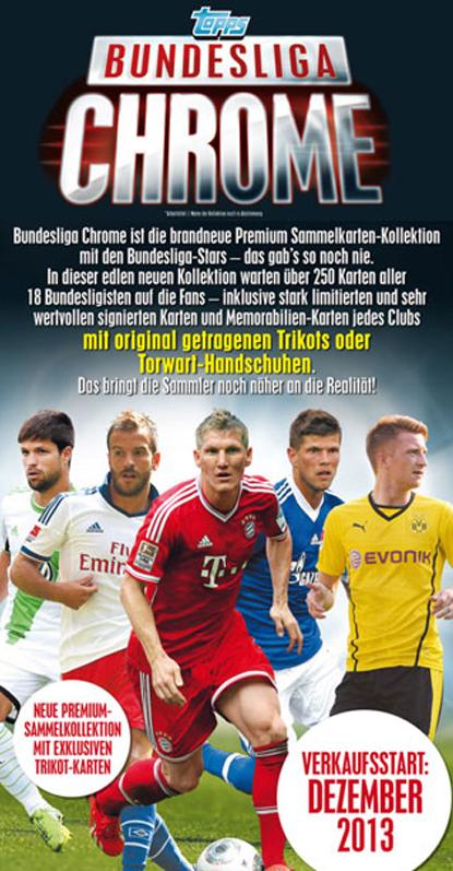 topps Bundesliga Chrome 13/14が今年の12月18日に発売予定