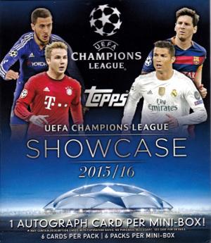 Topps UEFA Champions League Showcase Soccer ミニボックス開封結果